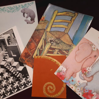 Assorted old greeting cards