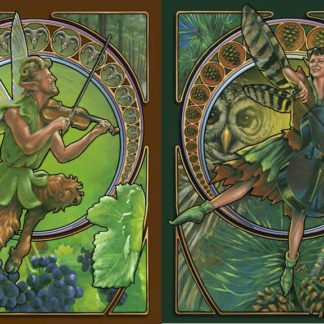 Alec and Betsy, illustrated as fairies